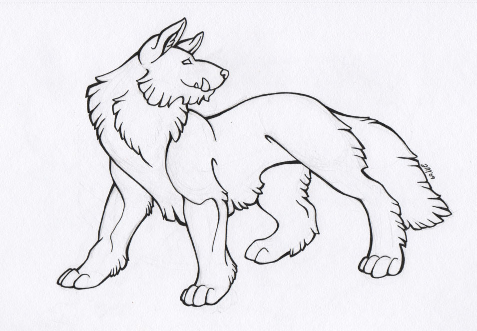 Dire Wolf - Inked